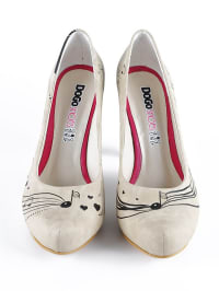 "Dogo Pumps ""Dance Me to the End of Love"" in Beige/ Schwarz"