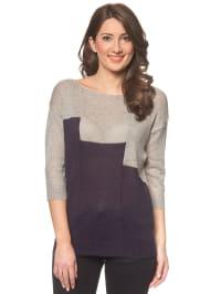 Vero Moda Pullover in Grau/ Dunkelblau