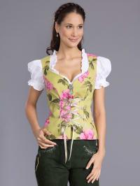 Dirndl Couture by Astrid Söll Trachten-Corsage in grün/ rosa