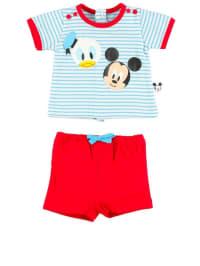 """Disney 2tlg. Set: T-Shirt und Hotpants """"Canik"""" in hellblau/ rot/ weiß"""
