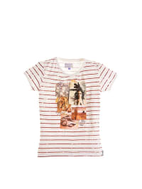 Retour Shirt in Offwhite/ Rotbraun
