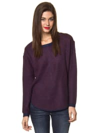 Vero Moda Pullover in dunkelblau/ aubergine