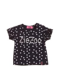 ZieZoo T-Shirt mit Aufschrift in dunkelblau/ weiß