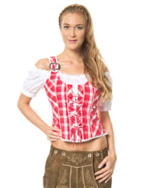 "LEKRA Trachtenbluse ""Nanni"" in rot/ weiß"