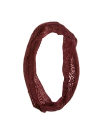 Retour Loopschal in Bordeaux/ Gold - (B)28 x (L)75 cm