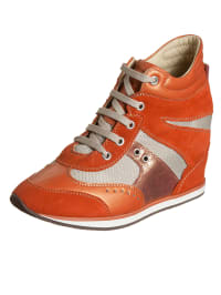 "Geox Keilsneakers ""Ambition"" in Orange/ Beige"
