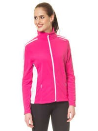 Hyra Fleecejacke in Pink/ Weiß