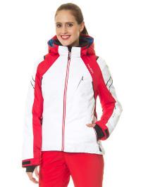 Hyra Ski-/ Snowboardjacke in Weiß/ Rot