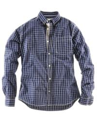 Roadsign Hemd in dunkelblau/ weiß