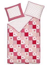 """Room7 Perkal-Bettwäsche-Set """"Losanges"""" in Pink/ Weiß"""