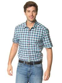 Mexx Hemd in blau/ türkis/ weiß