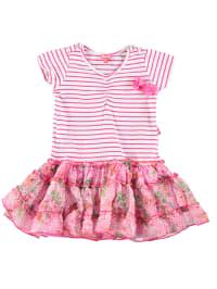 Pampolina Kleid in Pink/ Weiß/ Bunt