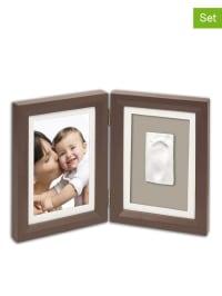 Baby Art 4tlg. Abdruck-Set mit Bilderrahmen in Braun