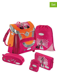 "Sammies by Samsonite 5tlg. Schulranzen-Set ""Optilight - Fashion Show"" in pink"