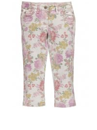 Million X Capri-Jeans mit normaler Bundweite in Creme/ Bunt