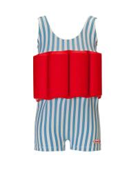 """Beverly Kids Schwimmanzug """"Funny Dancer"""" mit Schwimmhilfe in Hellblau/ Rot"""