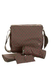 "Bellybutton Messenger Bag ""Sterne"" in grün - (B)38 x (H)33 x (T)13 cm"