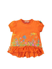 "Bondi Shirt ""Blumenwiese"" in Orange/ Bunt"