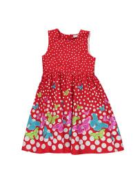 Topo Kleid in Rot/ Bunt