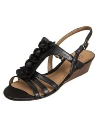 Clarks Leder-Sandaletten in schwarz