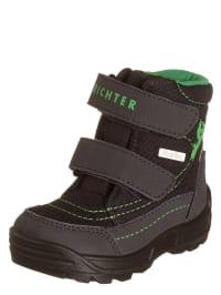 Richter Shoes Stiefel in Anthrazit/ Grün
