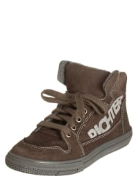 Richter Shoes Leder-Sneakers in Braun