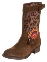 "Desigual Boots ""Biker Two"" in Braun/ Bunt"