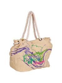 """Chiemsee Strandtasche """"Henna"""" in Beige/ Bunt - (B)36 x (H)30 x (T)22 cm"""