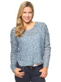 "Vero Moda Pullover ""Dawn"" in Blau/ Weiß"