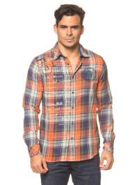 "Desigual Hemd ""Tormenta"" in Blau/ Orange"