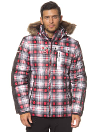 "Icepeak Ski-/ Snowboardjacke ""Taro"" in Schwarz/ Rot/ Weiß"