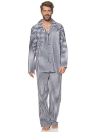 Seidensticker Pyjama in Dunkelblau/ Weiß