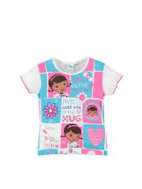 Leomil Shirt in Weiß/ Hellblau/ Pink