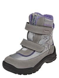 Romagnoli Boots in silber/ grau