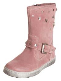Primigi Leder-Stiefel in rosé