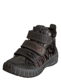 Primigi Leder-Sneakers in Grau/ Schwarz