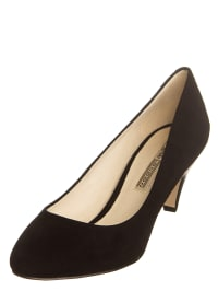 Buffalo Leder-Pumps in schwarz