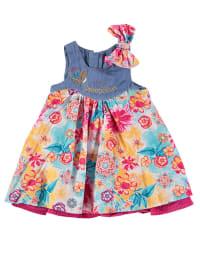 Pampolina Kleid in Blau/ Bunt