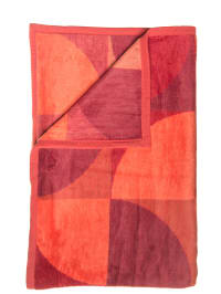 "David Fussenegger Decke ""Capri"" in Orange/ Rot"