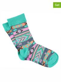 Bonnie Doon 3er-Set: Socken in Türkis/ Bunt
