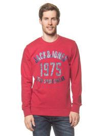 Jack & Jones Pullover in Rot/ Schwarz