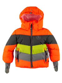 XSExes Winterjacke in Orange/ Grau/ Gelb