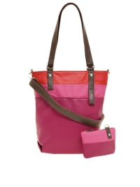 "Zwei Shopper ""Daily D14"" in Pink/ Braun - (B)34 x (H)36 x (T)13 cm"
