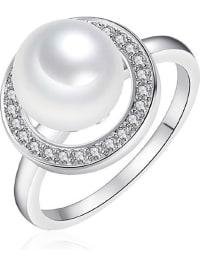 Pearls of London Ring mit Südsee-Muschelkernperle und Zirkonias