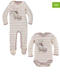 Kanz 2tlg. Set: Body und Schlafanzug in Creme/ Beige