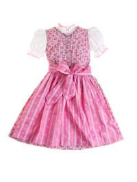 """Turi Landhaus Dirndl mit Bluse """"Karoline"""" in Pink/ Weiß"""