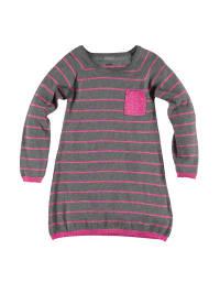 Name it Strickkleid in Grau/ Pink