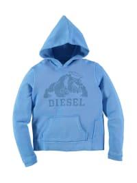 """Diesel Kid Kapuzenpullover """"Subb"""" in Hellblau"""