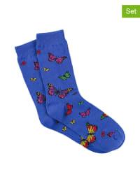 Bonnie Doon 3er-Set: Socken in Blau/ Bunt