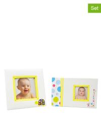 Corexa 2tlg. Set: Fotoalbum und Bilderrahmen in Weiß/ Bunt